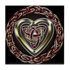 Celtic Heart Tile Coaster