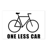 One less car - cycling Postcards (Package of 8)