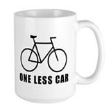 One less car - cycling Mug