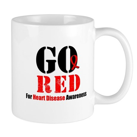 Go Red Heart Disease Mug