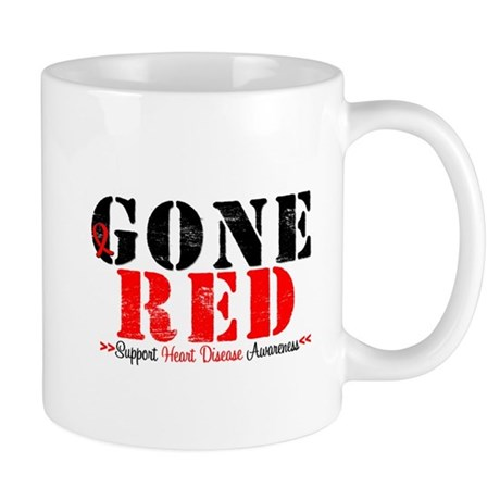 Gone Red Heart Disease Mug