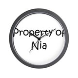 Funny Nia Wall Clock