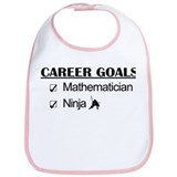 Mathematician Career Goals Ninja Bib