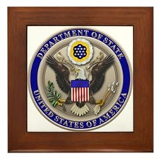 State Dept. Seal Framed Tile