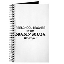Preschool Teacher Deadly Ninja by Night Journal