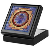 Abstract Shri Yantra Keepsake Box