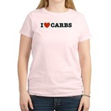 I Love Carbs Women's Pink T-Shirt