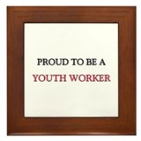 Proud to be a Youth Worker Framed Tile