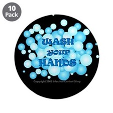 "Hand Hygiene 3.5"" Button (10 pack)"