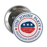 "The Zombie Party 2.25"" Button (100 pack)"