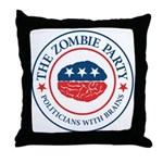 The Zombie Party Throw Pillow