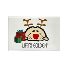 Life's Golden Rudolph Rectangle Magnet