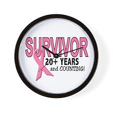 Breast Cancer Survivor 20+ Years Wall Clock