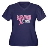 Breast Cancer Survivor 20+ Years Women's Plus Size