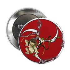 "Taiko - God of Thunder - Red 2.25"" Button (100 pac"