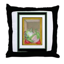 Mellow Marlin's Corner on Throw Pillow