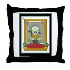 Maestro Frogenstein Throw Pillow