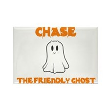 Chase The Friendly Ghost Rectangle Magnet