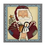 Country Santa Christmas Coaster