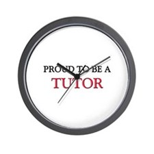 Proud to be a Tutor Wall Clock