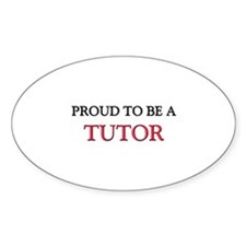 Proud to be a Tutor Oval Decal