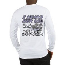 Blah blah blah Snowmobile Long Sleeve T-Shirt