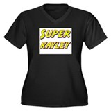 Super kayley Women's Plus Size V-Neck Dark T-Shirt