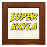 Super kayla Framed Tile