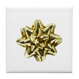 Gold Bow Tile