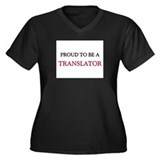 Proud to be a Translator Women's Plus Size V-Neck