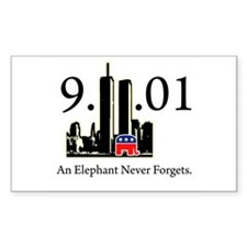 Republicans Never Forget Rectangle Decal