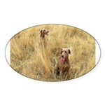 The Great Dane Sticker (Oval 50 pk)