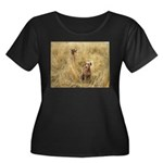 The Great Dane Women's Plus Size Scoop Neck Dark T