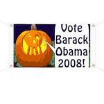 Halloween Pumpkin for Obama Banner