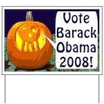 Halloween Pumpkin for Obama Yard Sign