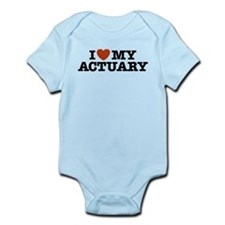 I Love My Actuary Infant Bodysuit