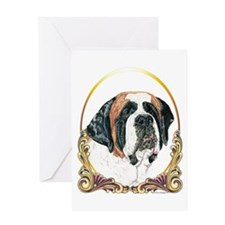 Saint Bernard Christmas Greeting Card