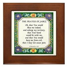 2 Prayers: Prayer of Jabez a Framed Tile