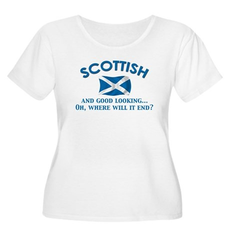 Good Lkg Scottish 2 Women's Plus Size Scoop Neck T