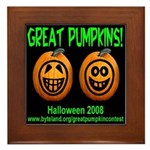 Great Pumpkins Framed Tile
