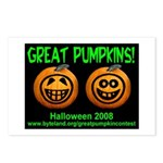 Great Pumpkins Postcards (Package of 8)