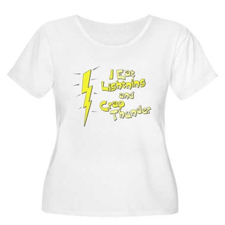 I Eat Lightning and Crap Thun Womens Plus Size Sc
