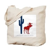 McCain/Palin Western Icons Tote Bag