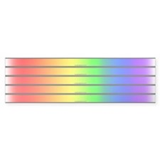 5-in-1 Gay Pride Rainbow Bumper Bumper Sticker