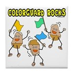 Colorguard Rocks Tile Coaster