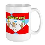 Colorguard Rocks Large Mug