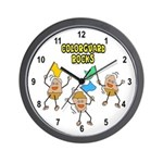Colorguard Rocks Wall Clock