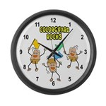 Colorguard Rocks Large Wall Clock