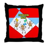 Colorguard Rocks Throw Pillow