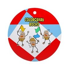 Colorguard Rocks Ornament (Round)
